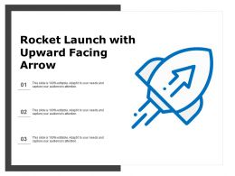 Rocket Launch With Upward Facing Arrow