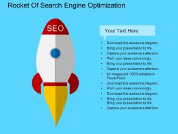 Rocket Of Search Engine Optimization Flat Powerpoint Design
