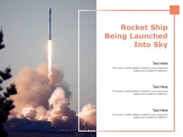 Rocket Ship Being Launched Into Sky