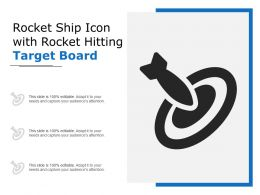 Rocket Ship Icon With Rocket Hitting Target Board