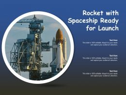 Rocket With Spaceship Ready For Launch