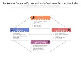 Rockwater Balanced Scorecard With Customer Perspective Index