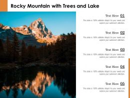 Rocky Mountain With Trees And Lake