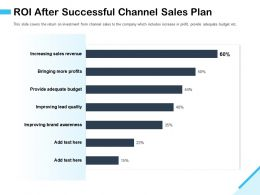 ROI After Successful Channel Sales Plan M2935 Ppt Powerpoint Presentation Layouts Graphics