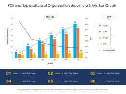 ROI And Expenditure Of Organization Shown Via 3 Axis Bar Graph