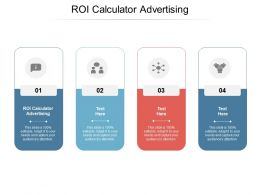 ROI Calculator Advertising Ppt Powerpoint Presentation Visual Aids Cpb