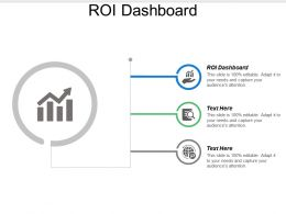 Roi Dashboard Ppt Powerpoint Presentation File Graphics Download Cpb