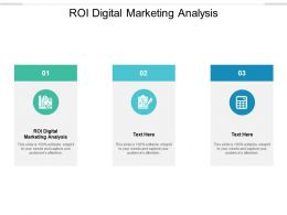 ROI Digital Marketing Analysis Ppt Powerpoint Presentation Model Infographic Template Cpb