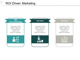 ROI Driven Marketing Ppt Powerpoint Presentation Show Professional Cpb