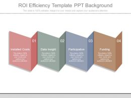 Roi Efficiency Template Ppt Background