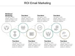 ROI Email Marketing Ppt Powerpoint Presentation Infographics Design Templates Cpb