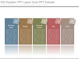 Roi Equation Ppt Layout Good Ppt Example