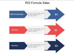 Roi Formula Sales Ppt Powerpoint Presentation Icon Show Cpb