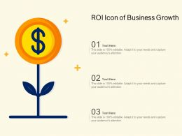 ROI Icon Of Business Growth