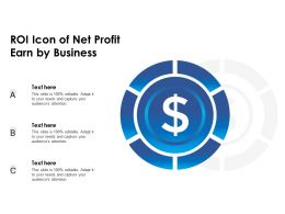 ROI Icon Of Net Profit Earn By Business