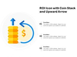ROI Icon With Coin Stack And Upward Arrow