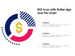 ROI Icon With Dollar Sign And Pie Chart