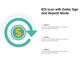 ROI Icon With Dollar Sign And Repeat Mode