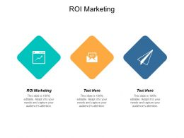 ROI In Marketing Ppt Powerpoint Presentation Slides Aids Cpb