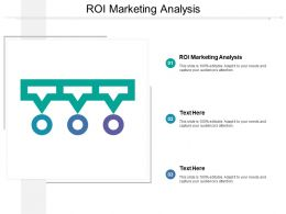 Roi Marketing Analysis Ppt Powerpoint Presentation Gallery Infographic Template Cpb