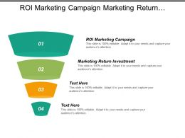 Roi Marketing Campaign Marketing Return Investment Return Marketing Investment Cpb