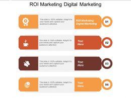 ROI Marketing Digital Marketing Ppt Powerpoint Presentation Portfolio Diagrams Cpb