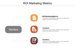 ROI Marketing Metrics Ppt Powerpoint Presentation Inspiration Templates Cpb