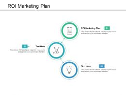 ROI Marketing Plan Ppt Powerpoint Presentation Infographics Graphics Example Cpb