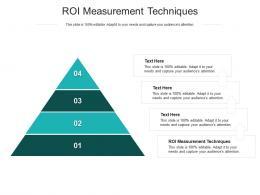 ROI Measurement Techniques Ppt Powerpoint Presentation Layouts Visuals Cpb