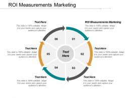 ROI Measurements Marketing Ppt Powerpoint Presentation Gallery Sample Cpb