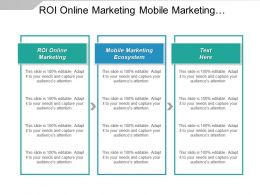 Roi Online Marketing Mobile Marketing Ecosystem Roi Strategies Cpb