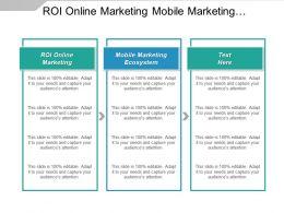 Roi Online Marketing Mobile Marketing Ecosystem Roi Strategies Cpb