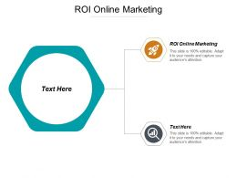 ROI Online Marketing Ppt Powerpoint Presentation Model Graphics Cpb