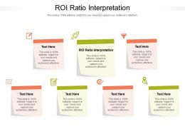 ROI Ratio Interpretation Ppt Powerpoint Presentation Ideas Gallery Cpb