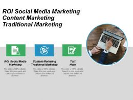 Roi Social Media Marketing Content Marketing Traditional Marketing Cpb