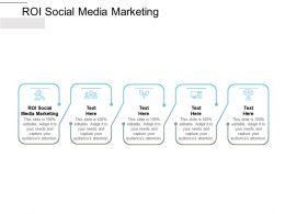 ROI Social Media Marketing Ppt Powerpoint Presentation Inspiration Samples Cpb