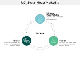ROI Social Media Marketing Ppt Powerpoint Presentation Summary Show Cpb