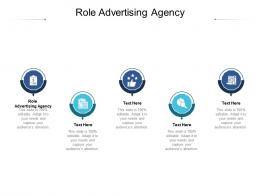Role Advertising Agency Ppt Powerpoint Presentation Pictures Graphics Example Cpb