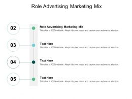 Role Advertising Marketing Mix Ppt Powerpoint Presentation Gallery Guidelines Cpb