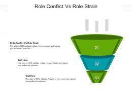 Role Conflict Vs Role Strain Ppt Powerpoint Presentation Show Designs Cpb