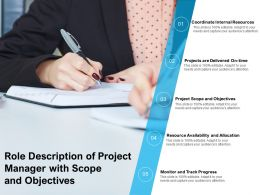 Role Description Of Project Manager With Scope And Objectives