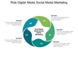 Role Digital Media Social Media Marketing Ppt Powerpoint Presentation Icons Cpb