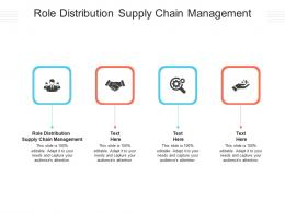 Role Distribution Supply Chain Management Ppt Powerpoint Presentation Infographics Cpb