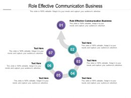 Role Effective Communication Business Ppt Powerpoint Presentation File Graphics Pictures Cpb