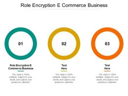 Role Encryption E Commerce Business Ppt Powerpoint Presentation Ideas Layout Cpb