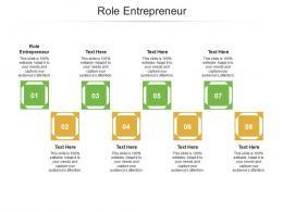 Role Entrepreneur Ppt Powerpoint Presentation Model Ideas Cpb