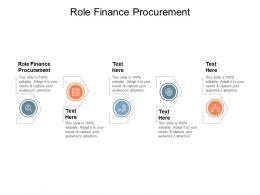 Role Finance Procurement Ppt Powerpoint Presentation File Design Inspiration Cpb