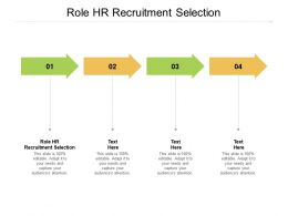 Role HR Recruitment Selection Ppt Powerpoint Presentation Outline Format Cpb