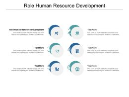 Role Human Resource Development Ppt Powerpoint Presentation Outline Cpb