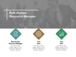 Role Human Resource Manager Ppt Powerpoint Presentation Inspiration Example Introduction Cpb